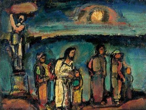 Gesù accoglie e cura molti malati